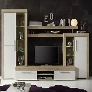 Meuble Tele Moderne : meuble tv moderne bois meuble television suspendu trendsetter ~ Teatrodelosmanantiales.com Idées de Décoration