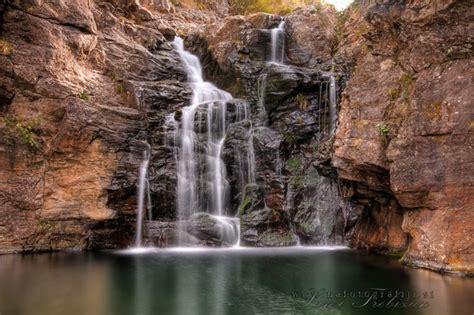 A Waterfall At The End Of Levada Ribeira Grande Near