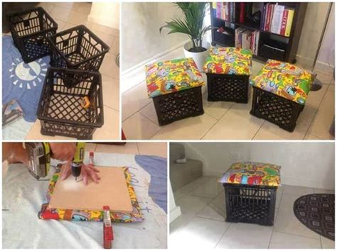 how to make a storage ottoman diy storage ottoman ideas from recycle crates and pallets