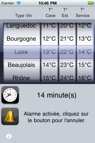 chambrer le vin chambrer un freeware pour iphone