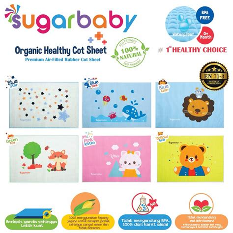 perlak bayi sugar baby perlak karet waterproof bayi untuk ompol perlengkapan bayi newborn