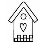 Bird House Coloring Pages For Kids  Best Place To Color
