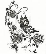 Rose Vines Design Tatt...