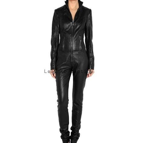 leather jumpsuits buy sleeves leather jumpsuit rider