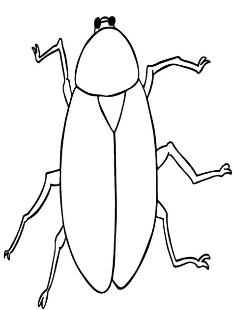 free printable cockroach coloring pages for