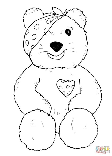 Free Coloring Pages Of Girl Pudsey Bear Pudsey Bear