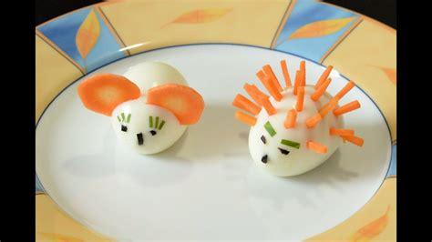 lustige eierfiguren aus ostereiern maus und igel youtube