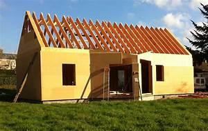les eco logis bois sarthe lombron construction With maison bois et paille