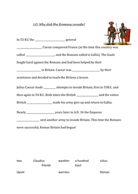 Why Did The Romans Invade Britain By Tamzynm  Teaching Resources Tes