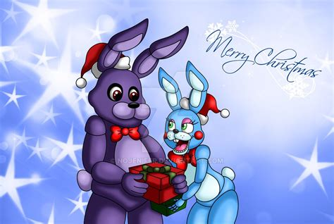 Bonnie And Toy Bonnie Merry Christmas By Amanddica On