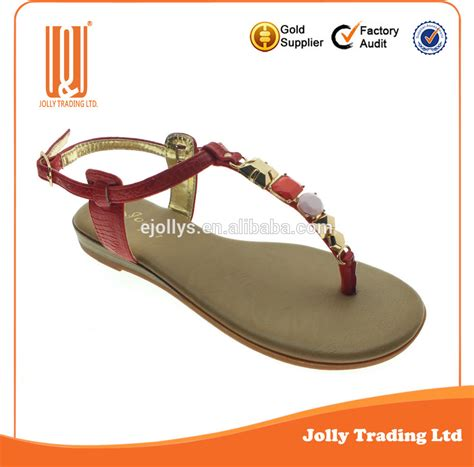 wholesale alibaba simple design ladies fancy flat sandals