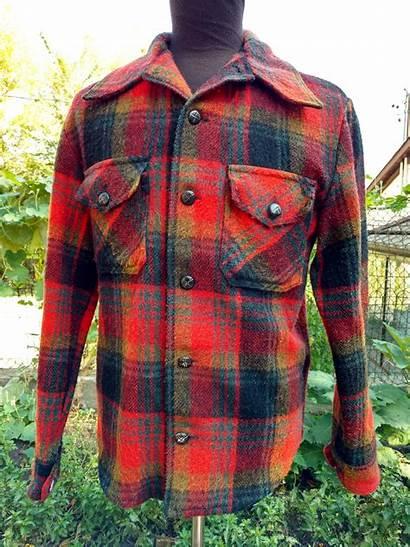 Plaid Jacket Wool Rockabilly Tartan Coat Retro