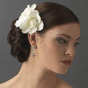 Elegant Wedding Hair Flower Ideas Creative Wedding Hair