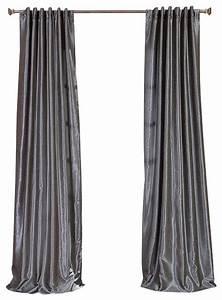 Storm grey textured vintage faux dupioni silk curtain for Silk curtains texture