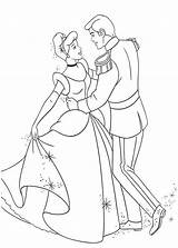 Coloring Cinderella Prince Charming Pages Disney Dance Princess Dancing Princesses Colouring Print Mouse Mickey Books Sheet Horse Sheets Printable Colorings sketch template