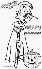 Vampire Coloring Pages Halloween Printable Cool2bkids Dark Vampires sketch template
