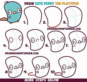 How to Draw Cute Kawaii / Chibi Perry the Platypus from ...