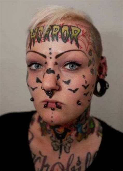 crazy people  horrible face tattoos barnorama