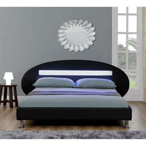 lit led adulte 140 x 190 cm noir achat vente lit pas cher couleur et design fr