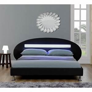 Lit Design Pas Cher X Lit Design Noir Vitara X Cm Lits - Lit orion 160x200