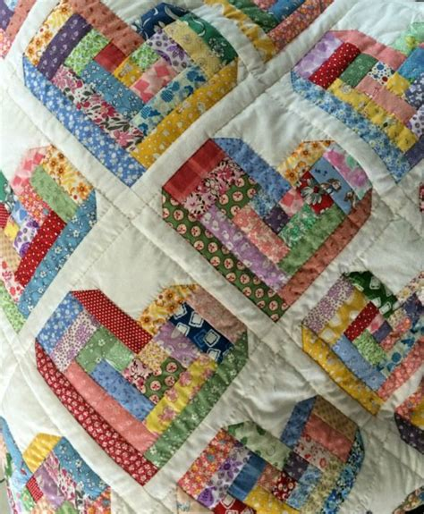 patchwork cabin log cabin quilt something different quilts