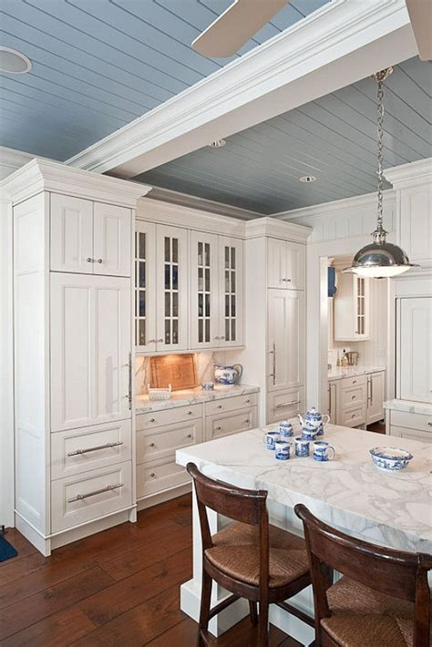 farm kitchen cabinets the blue gray ceiling my fancy farmhouse kitchen 3675