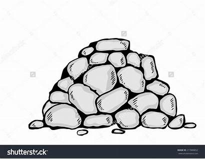 Stones Clipart Stack Pile Cartoon Stone Clipground