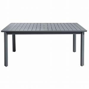 Table Aluminium Extensible : hyba table de jardin extensible urban aluminium gris 173cm x 76cm x 100cm pas cher achat ~ Teatrodelosmanantiales.com Idées de Décoration
