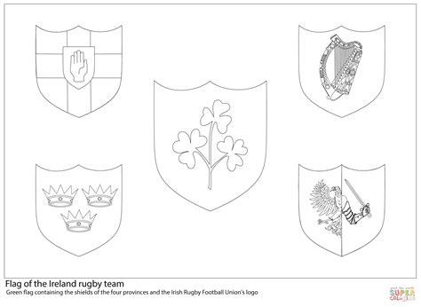 Rugby Kleurplaat by Ireland Rugby Team Flag Coloring Page Free Printable
