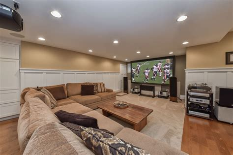 A Naperville Illinois Basement Remodel Pictures Dining Room Arm Chair Slipcovers Sets Rustic Modern Bed Designs College Dorm Checklist For Guys Manager Baby Interior Design Small Living Make Your Game