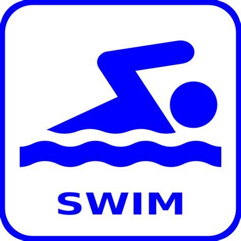 Swimming Clip Blue Swim Icon Clip At Clker Vector Clip