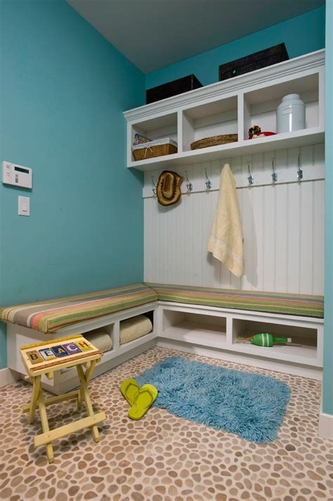 Kitchen Shades Ideas - corner mudroom bench entry contemporary with built in storage coat cubbies beeyoutifullife com