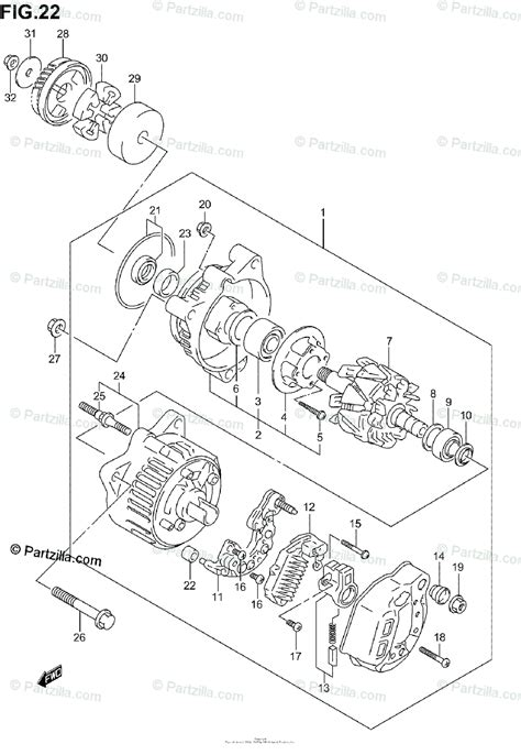 suzuki motorcycle 2004 oem parts diagram for alternator partzilla