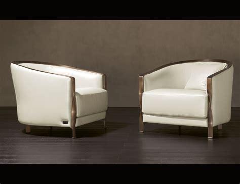 nella vetrina rugiano 90b arm chair in white leather