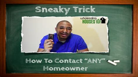 Wholesaling Houses 101 - wholesaling houses 101 how to contact just about anyone