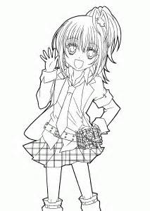 hotaru  shugo chara anime coloring pages  kids printable