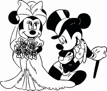 Mouse Coloring Mickey Pages Minnie Kissing Mini