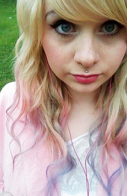 Blonde Pastel Pink And Purple Ombre Hair Dyed Hair