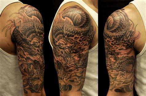 sleeve dragon tattoo chronic ink