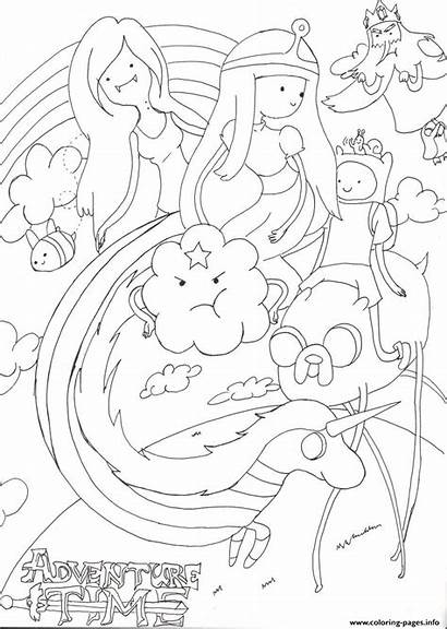 Adventure Coloring Pages Printable Lineart Cartoon Doodle