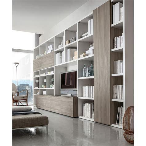libreria d soggiorno moderno valentino