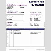 request for quote template excel