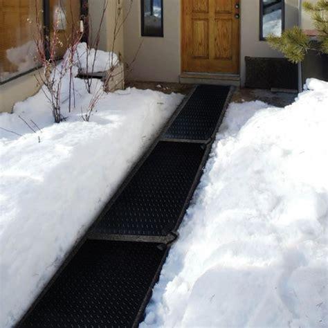 heated sidewalk mat heat trak snow melting walk way mat dr power equipment
