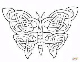 design coloring pages celtic butterfly design coloring page free printable