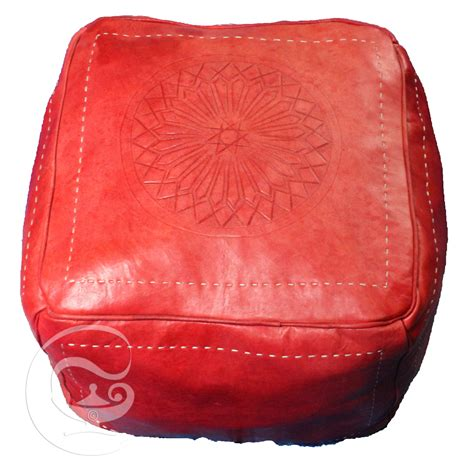 square leather pouf ottoman red square leather ottoman marrakech market