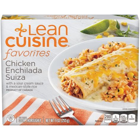 liant cuisine lean cuisine favorites chicken enchilada suiza frozen