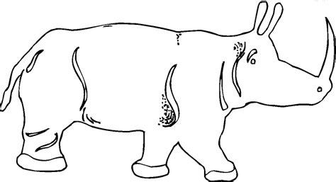 Schöne Malvorlagen Ausmalbilder Nashorn Ausdrucken 2