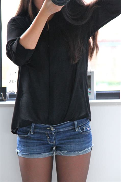 Black shirt and Denim shorts u2013 lishenho.com | Travel and lifestyle blog by Li Shen Ho