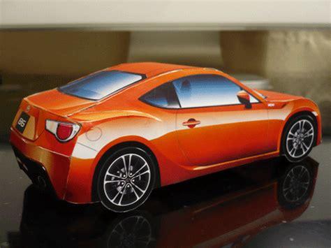 2012 Toyota 86 Paper Car Free Paper Model - Papermodeler