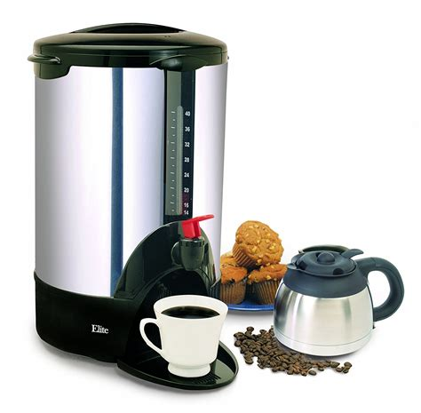 cuisine cup chrome stainless steel cuisine 40 cup coffee pot expresso